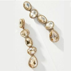 New Anthro Deepa Skipping Stone Drop Earrings